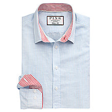 Buy Thomas Pink Hammond Stripe Linen Blend Shirt Online at johnlewis.com