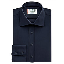 Buy Thomas Pink Crossland Plain Athletic Fit Shirt, Navy Online at johnlewis.com