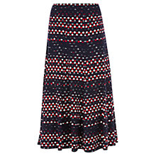 Buy Viyella Petite Spot Print Skirt, Navy Online at johnlewis.com