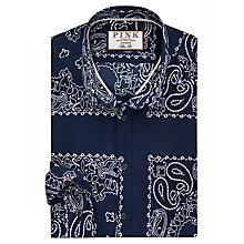 Buy Thomas Pink Deacon Print Slim Fit Shirt Online at johnlewis.com