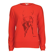 Buy Barbour Carston Knit Sweater, Red Online at johnlewis.com