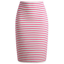 Buy Joules Victoria Stripe Jersey Pencil Skirt, Neon Candy Online at johnlewis.com