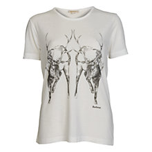 Buy Barbour Deer T-shirt, Snow Online at johnlewis.com
