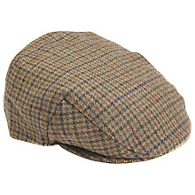 Buy Barbour Wool Crieff Check Flat Cap, Olive Green Online at johnlewis.com