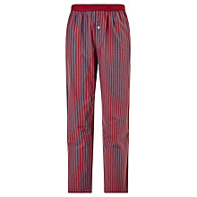 Buy Calvin Klein Cotton Woven Junior Stripe Pyjama Bottoms, Red/Grey Online at johnlewis.com