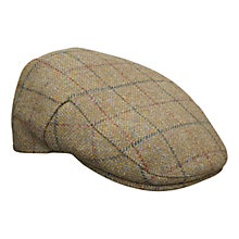 Buy Barbour Country Check Woollen Flat Cap Online at johnlewis.com