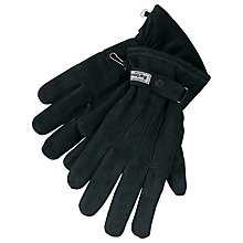 Buy Barbour Leather Thinsulate Gloves, Black Online at johnlewis.com