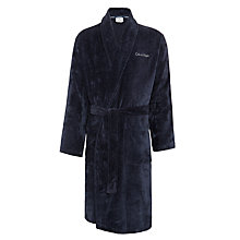 Buy Calvin Klein Cotton Terry Bathrobe, Blue Online at johnlewis.com