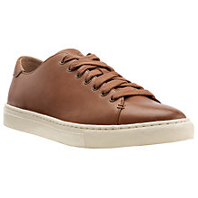Buy Polo Ralph Lauren Jermain Leather Trainers, Tan Online at johnlewis.com