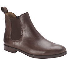 Buy Polo Ralph Lauren Dillian Leather Boots, Dark Brown Online at johnlewis.com