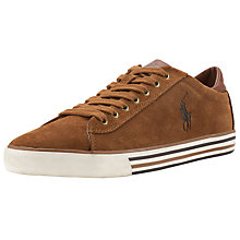 Buy Polo Ralph Lauren Harvey Leather Trainers, New Snuff Online at johnlewis.com