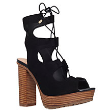 Buy KG by Kurt Geiger Henna Lace Up Block Heeled Sandals Online at johnlewis.com
