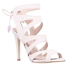 Buy Miss KG Frenchy Cut Out Suede High Heel Sandals, Nude Online at johnlewis.com