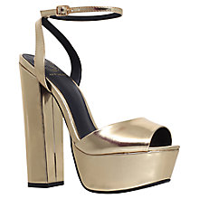Buy KG by Kurt Geiger Hero Platform Block Heel Sandals, Gold Online at johnlewis.com
