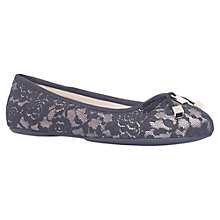 Buy Carvela Lamp Flat Ballerina Pumps, Black Comb Online at johnlewis.com