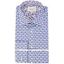 Buy Ted Baker Printz Morris Floral Shirt, White/Purple Online at johnlewis.com