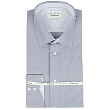 Buy Ted Baker Dobby Dot Shirt, Grey Online at johnlewis.com