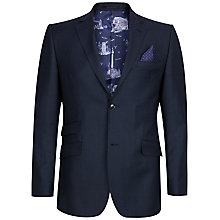 Buy Ted Baker Foxdale Sterling Wool Birdseye Tailored Suit Jacket, Mid Blue Online at johnlewis.com
