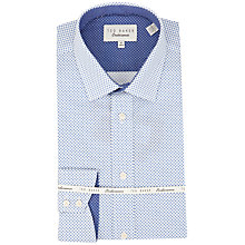 Buy Ted Baker Endurance Archane Circle Dot Print Shirt, Blue/White Online at johnlewis.com