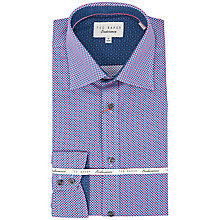 Buy Ted Baker Cranage Dot Print Shirt, Red Online at johnlewis.com