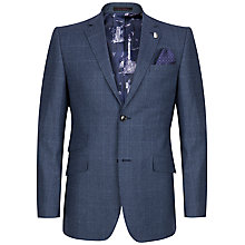Buy Ted Baker Maltez Windowpane Check Tailored Suit Jacket, Blue Online at johnlewis.com