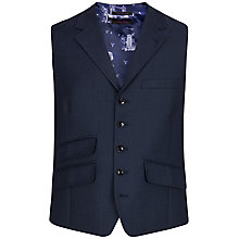 Buy Ted Baker Foxdale Sterling Wool Birdseye Tailored Waistcoat, Mid Blue Online at johnlewis.com