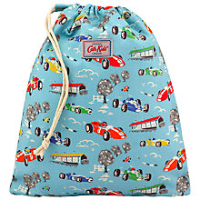 Buy Cath Kidston Children's Racing Cars Drawstring Bag, Blue Online at johnlewis.com