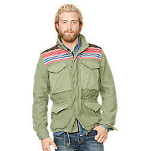 Buy Denim & Supply Ralph Lauren Cotton Army Field Jacket, Green Online at johnlewis.com