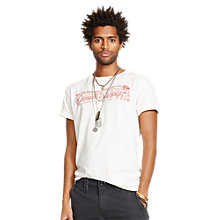 Buy Denim & Supply Ralph Lauren Skull Graphic T-Shirt, Antique Cream Online at johnlewis.com