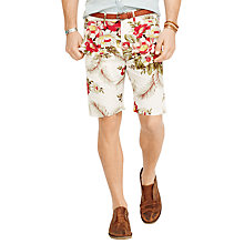 Buy Denim & Supply Ralph Lauren Floral Cotton Poplin Shorts, Wayland Ecru Online at johnlewis.com