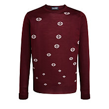 Buy John Smedley Snowflake Merino Wool Jumper, Port Online at johnlewis.com
