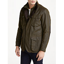 Buy Barbour Ogston Wax Jacket, Olive Online at johnlewis.com
