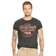 Buy Denim & Supply Ralph Lauren Jersey Graphic T-Shirt, Faded Black Online at johnlewis.com