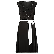 Buy Kaliko Pearl Trim Dress, Black Online at johnlewis.com
