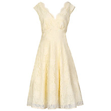 Buy Jolie Moi V-Neck Lace Fit And Flare Dress, Cream Online at johnlewis.com