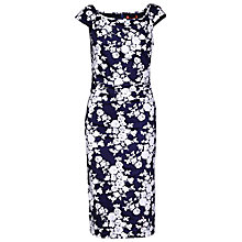 Buy Jolie Moi Floral Print Bodycon Dress, Navy White Online at johnlewis.com