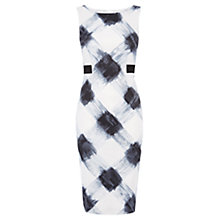 Buy Karen Millen Graphic Zebra Print Dress, Black / White Online at johnlewis.com