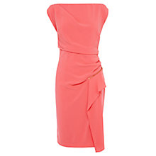 Buy Coast Gracie Crepe Dress, Coral Online at johnlewis.com