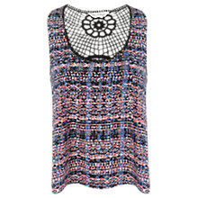 Buy Miss Selfridge Geometric Crochet Back Crop Top, Multi Online at johnlewis.com