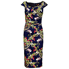 Buy Jolie Moi Birds And Floral Print Bodycon Dress, Navy Online at johnlewis.com