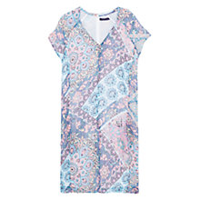Buy Violeta by Mango Paisley Print Dress, Pink / Blue Online at johnlewis.com