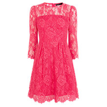 Buy Karen Millen Beautiful Lace Dress, Fuchsia Online at johnlewis.com