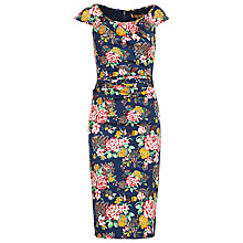 Buy Jolie Moi Floral Print Ruched Dress Online at johnlewis.com