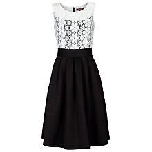 Buy Jolie Moi Contrast Lace Bodice 50s Prom Dress, White/Black Online at johnlewis.com
