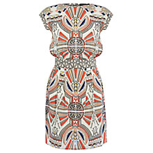 Buy Warehouse Tribal Wrap Front Dress, Multi Online at johnlewis.com