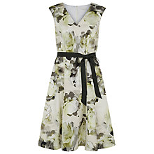 Buy Kaliko Floral Print Cotton Dress, Green Online at johnlewis.com