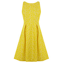 Buy Warehouse Bonded Lace Dress, Yellow Online at johnlewis.com