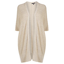 Buy Warehouse Long Cocoon Cardigan, Cream Online at johnlewis.com