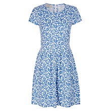 Buy Hobbs Karen Dress, Pale Blue White Online at johnlewis.com
