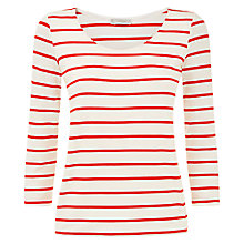 Buy Hobbs Catherine Top, Red/Ivory Online at johnlewis.com